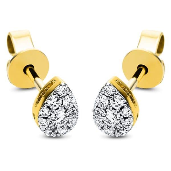 18 kt sárga arany steckeres 20 gyémánttal 2J323G8-1