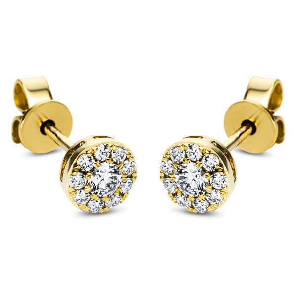 18 kt sárga arany steckeres 20 gyémánttal 2J375G8-1