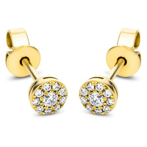 18 kt sárga arany steckeres 20 gyémánttal 2J376G8-1