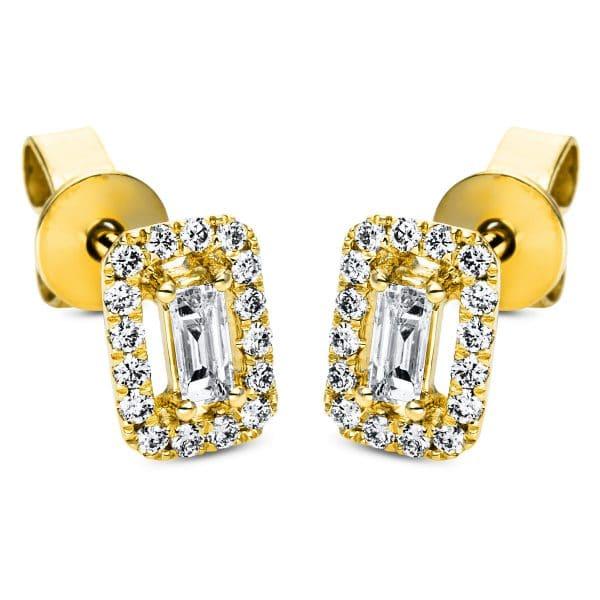 18 kt sárga arany steckeres 34 gyémánttal 2J384G8-1