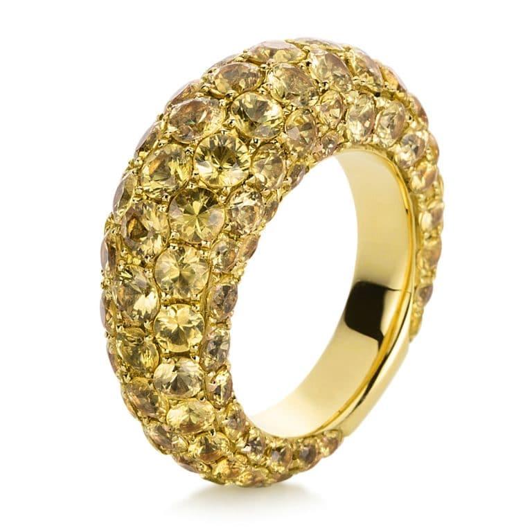 18 kt sárga arany színes drágakő 117 drágakővel 1C296G856-1