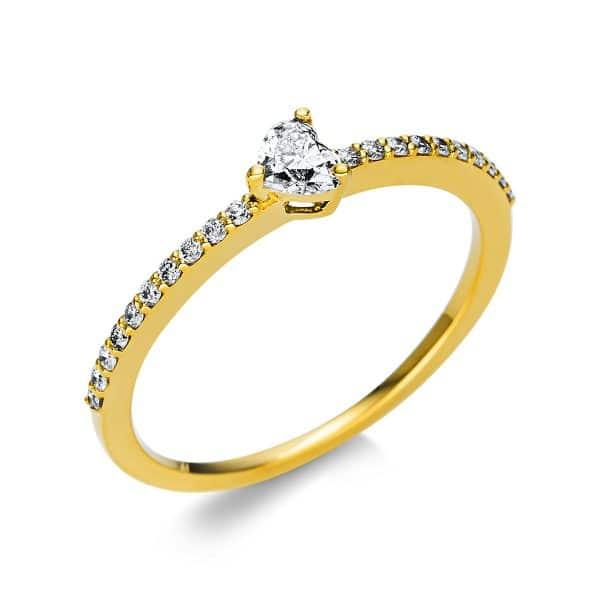 18 kt sárga arany szoliter oldalkövekkel 21 gyémánttal 1U611G854-6