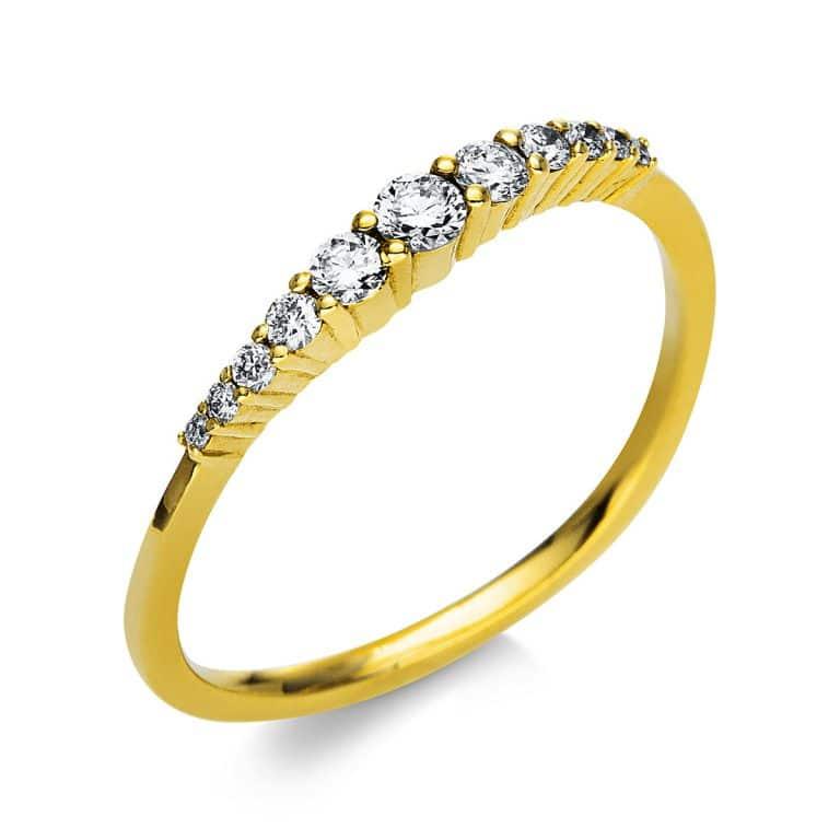 18 kt sárga arany több köves gyűrű 11 gyémánttal 1T779G854-1