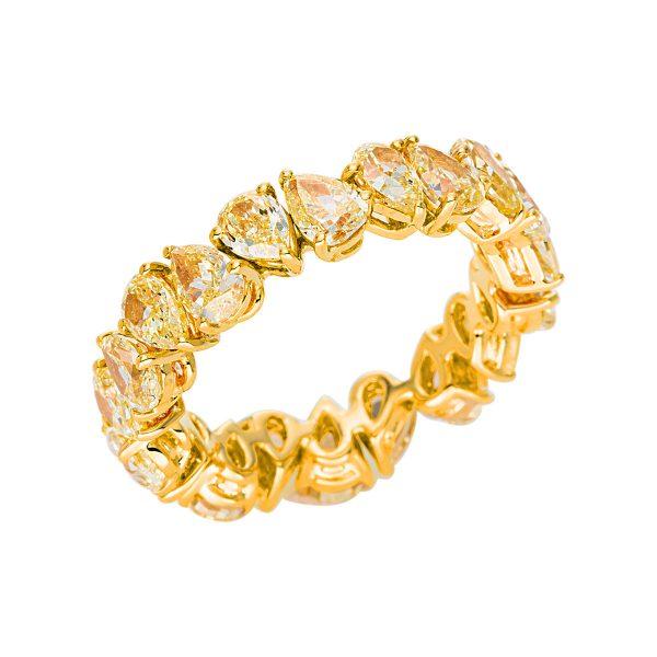18 kt sárga arany több köves gyűrű 20 gyémánttal 1V360G853-1
