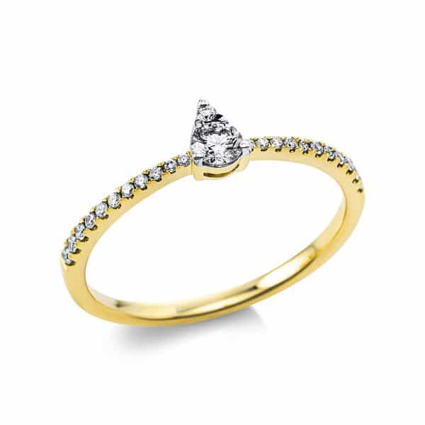 18 kt sárga arany több köves gyűrű 24 gyémánttal 1U549G854-1