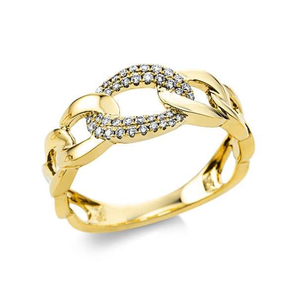 18 kt sárga arany több köves gyűrű 38 gyémánttal 1V468G854-1
