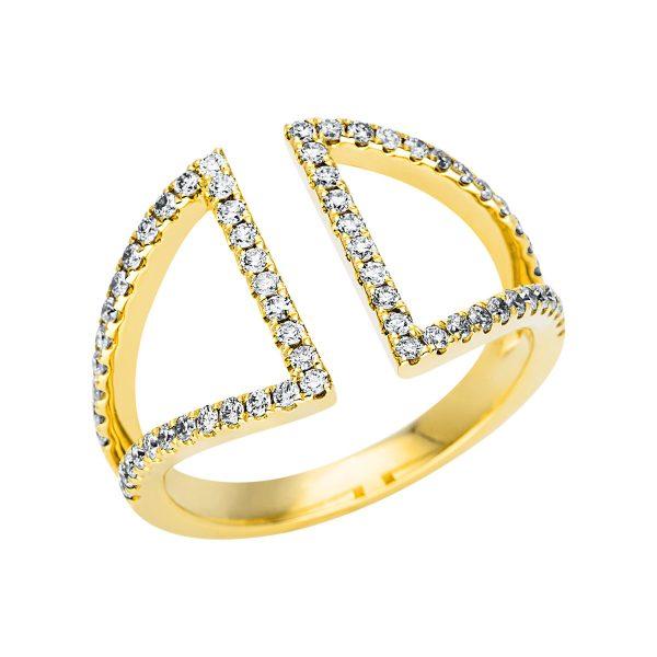 18 kt sárga arany több köves gyűrű 64 gyémánttal 1L966G854-1