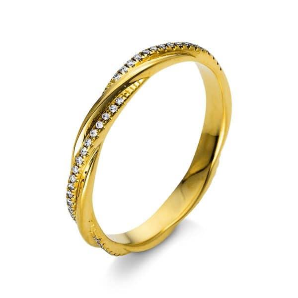 18 kt sárga arany több köves gyűrű 64 gyémánttal 1S126G853-1