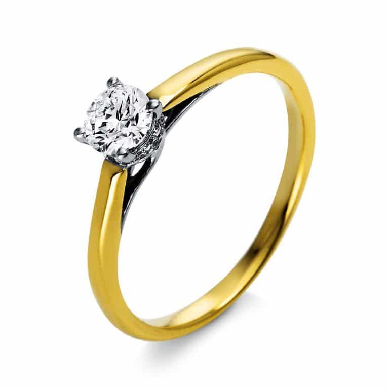 18 kt  szoliter oldalkövekkel 13 gyémánttal 1O315GP853-1