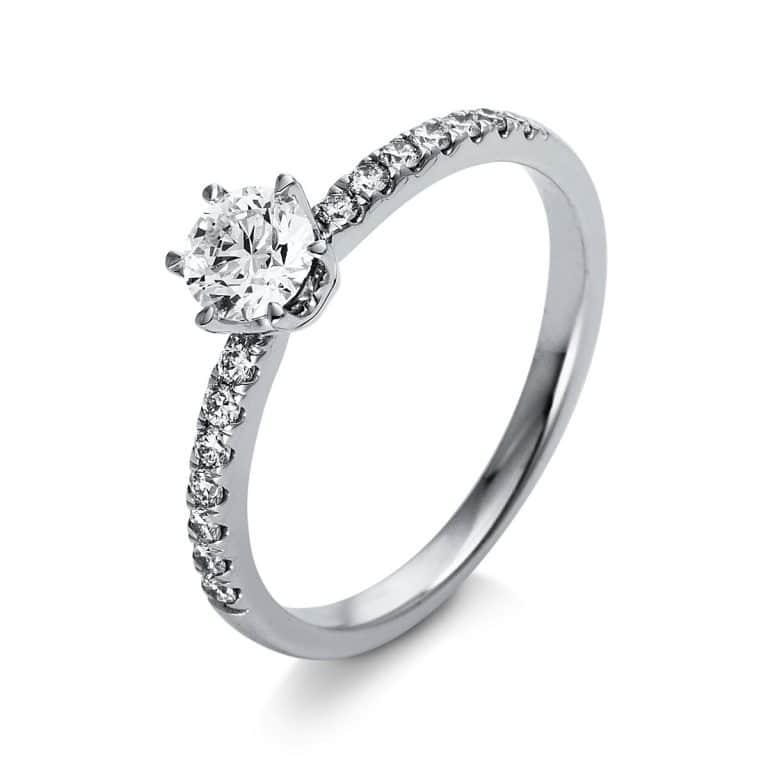 18 kt  szoliter oldalkövekkel 15 gyémánttal 1O260WP855-1
