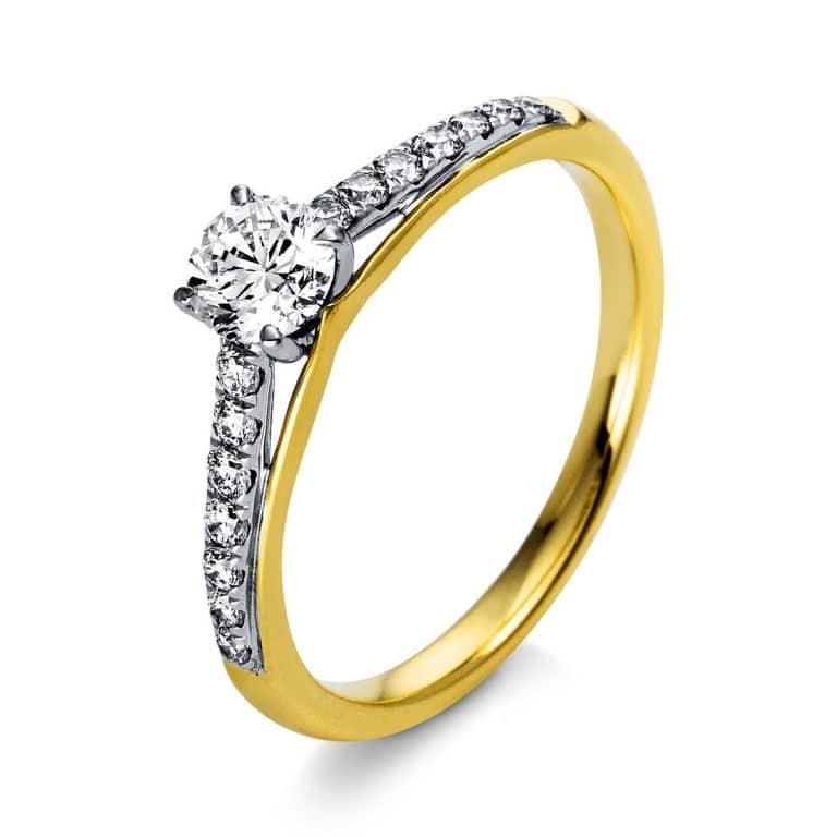 18 kt  szoliter oldalkövekkel 15 gyémánttal 1O287GP853-1