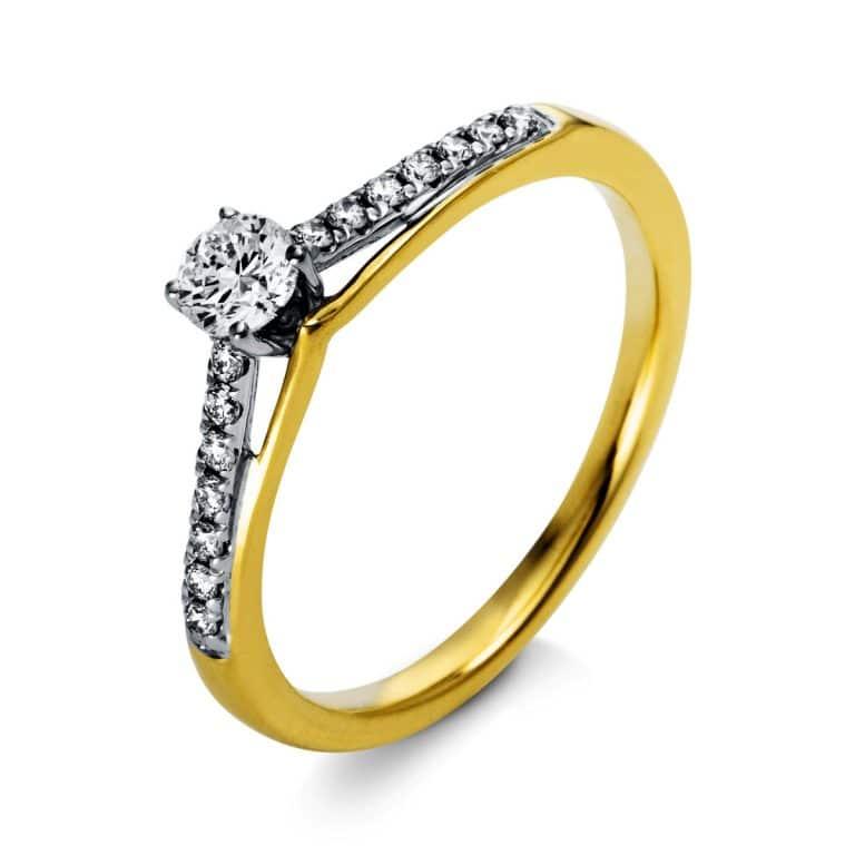 18 kt  szoliter oldalkövekkel 15 gyémánttal 1O289GP853-1
