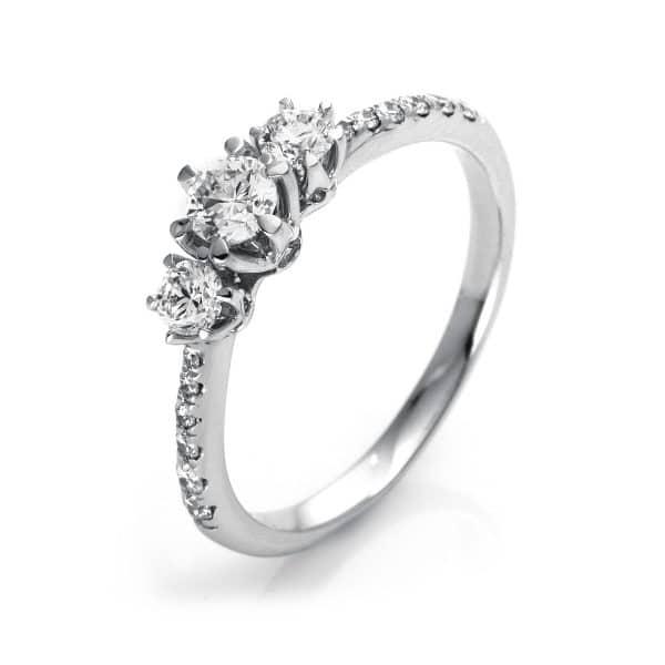 18 kt  több köves gyűrű 15 gyémánttal 1O303WP853-1