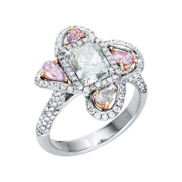 18 kt  több köves gyűrű 192 gyémánttal 1V357WR852-1