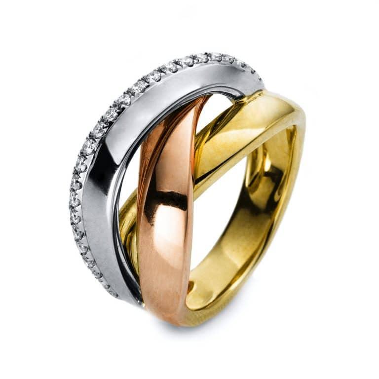 18 kt  több köves gyűrű 25 gyémánttal 1B422T8525-1