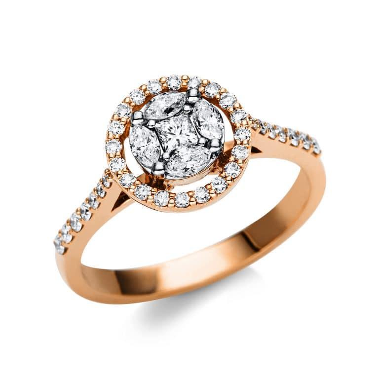 18 kt  több köves gyűrű 39 gyémánttal 1U139WR851-1