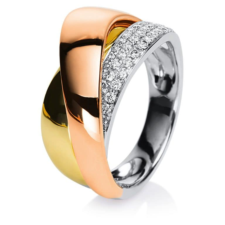 18 kt  több köves gyűrű 64 gyémánttal 1B423T853-1