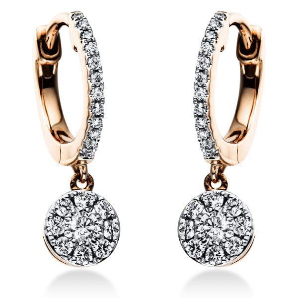 18 kt vörös arany / fehérarany fülbevaló 42 gyémánttal 2J377RW8-1
