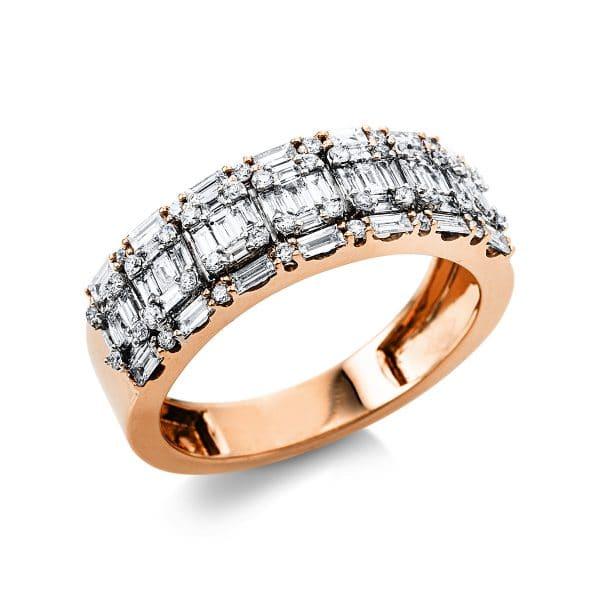 18 kt vörös arany / fehérarany illúzió 89 gyémánttal 1V388RW854-1