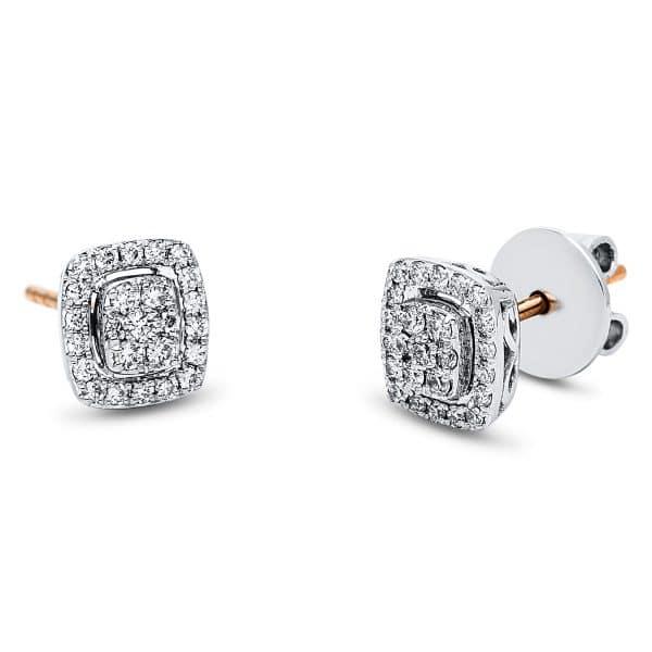 18 kt vörös arany / fehérarany steckeres 50 gyémánttal 2J548RW8-1