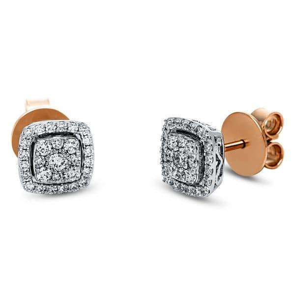 18 kt vörös arany / fehérarany steckeres 58 gyémánttal 2J543RW8-1