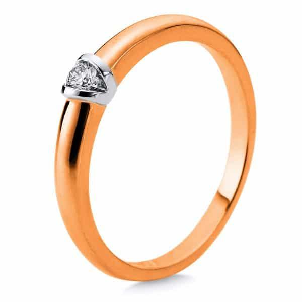 18 kt vörös arany / fehérarany szoliter 1 gyémánttal 1D871RW854-1