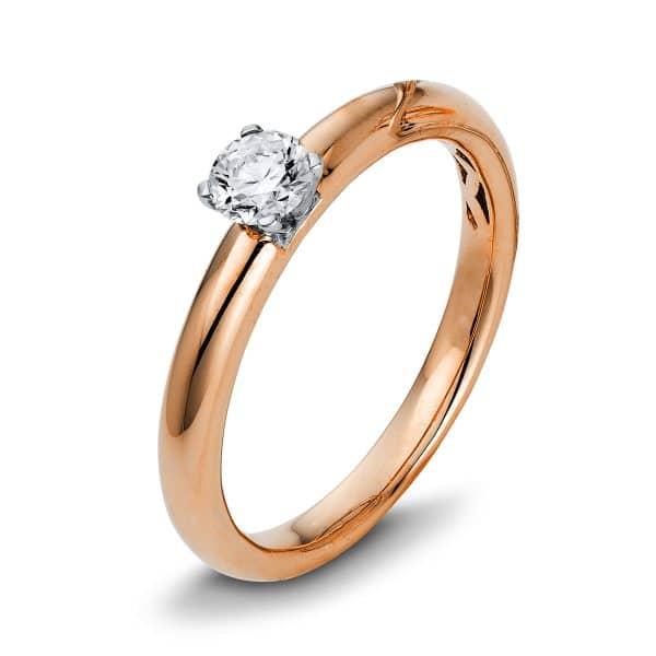 18 kt vörös arany / fehérarany szoliter 1 gyémánttal 1Q421RW855-2
