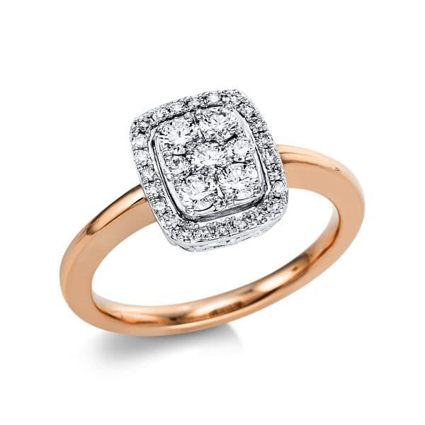 18 kt vörös arany / fehérarany több köves gyűrű 31 gyémánttal 1V672RW854-1