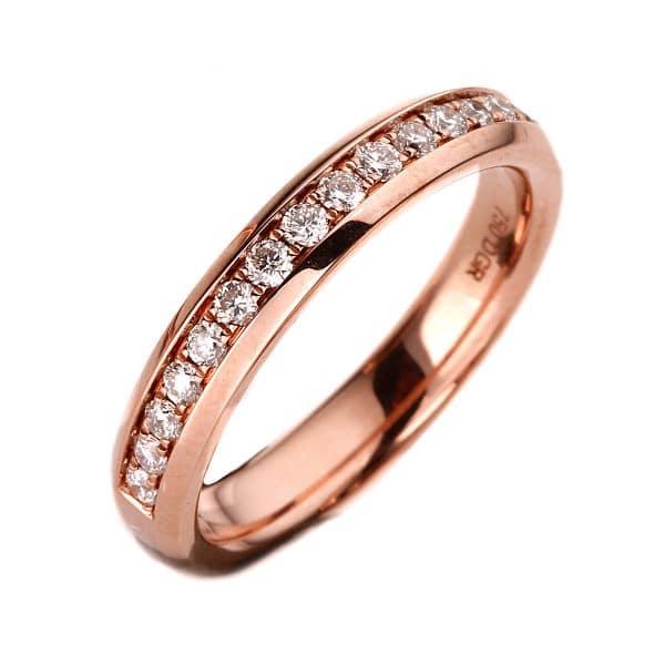 18 kt vörös arany félig köves eternity 11 gyémánttal 1A027R8535-1