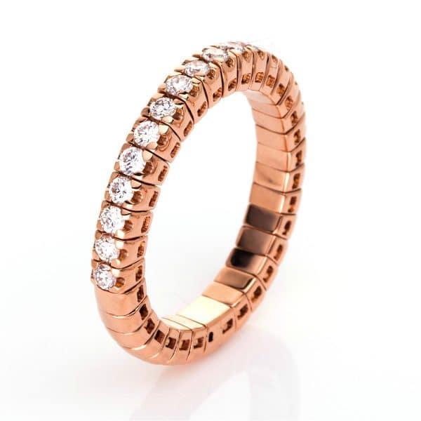 18 kt vörös arany félig köves eternity 17 gyémánttal 1J210R853-15