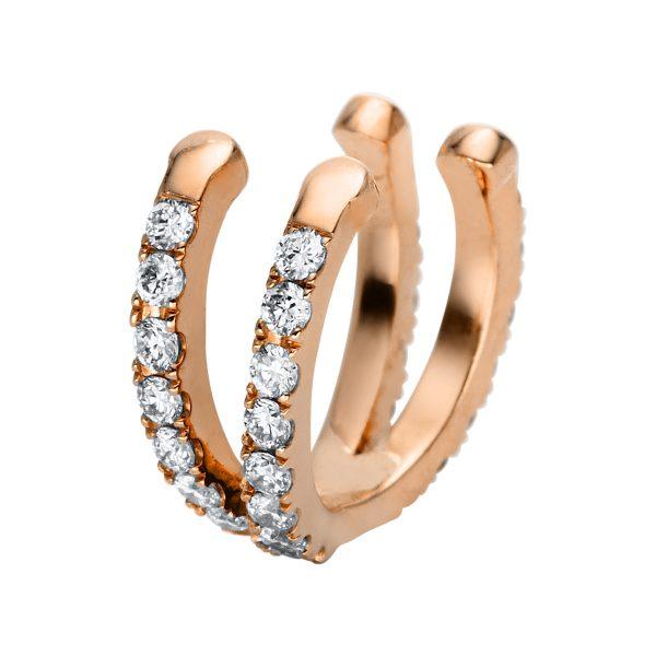18 kt vörös arany fülbevaló 31 gyémánttal 2J346R8-1