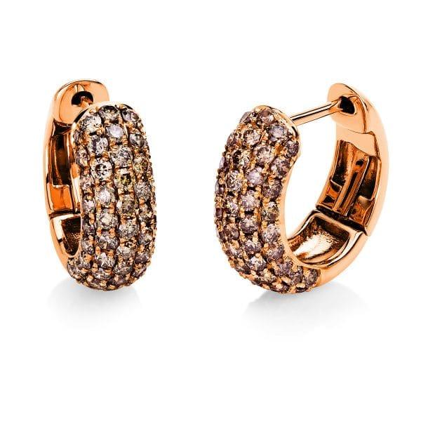 18 kt vörös arany karika és huggie 98 gyémánttal 2E556R8-3