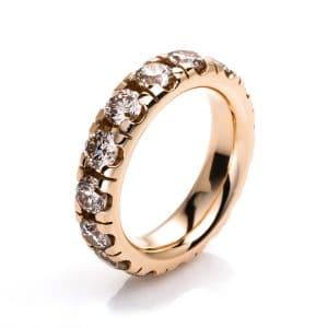 18 kt vörös arany körbe köves eternity 15 gyémánttal 1F434R856-3