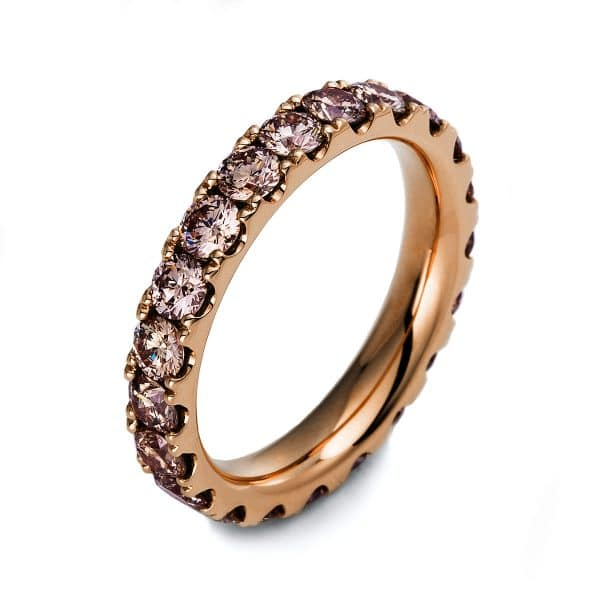 18 kt vörös arany körbe köves eternity 21 gyémánttal 1O432R854-1