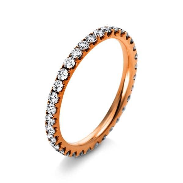 18 kt vörös arany körbe köves eternity 34 gyémánttal 1A901R854-12