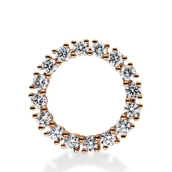 18 kt vörös arany medál 16 gyémánttal 3D757R8-1