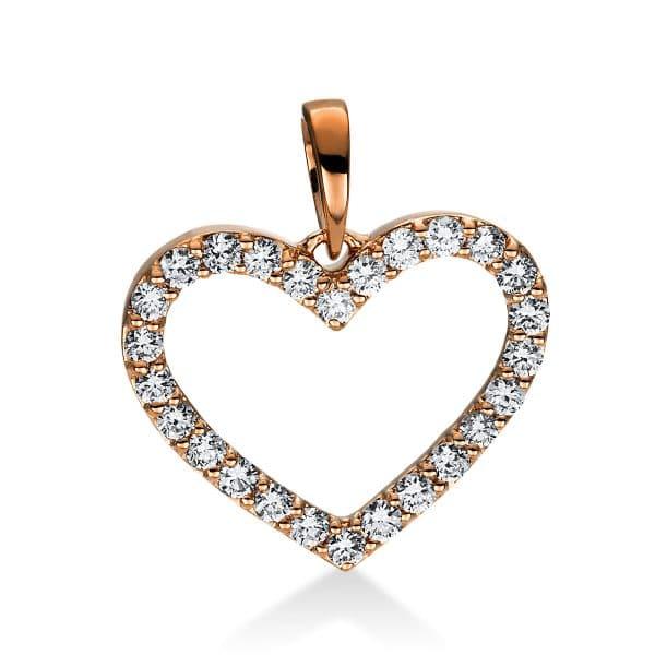 18 kt vörös arany medál 26 gyémánttal 3D767R8-1