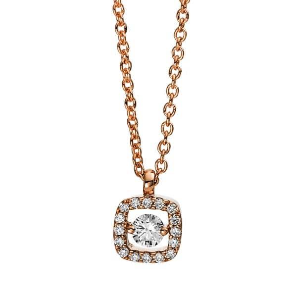 18 kt vörös arany nyaklánc 17 gyémánttal 4D386R8-4
