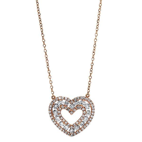 18 kt vörös arany nyaklánc 80 gyémánttal 4F469R8-1
