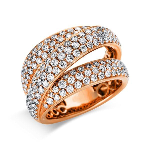 18 kt vörös arany pavé 159 gyémánttal 1V270R853-1
