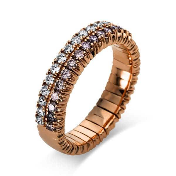 18 kt vörös arany pavé 30 gyémánttal 1N621R853-3