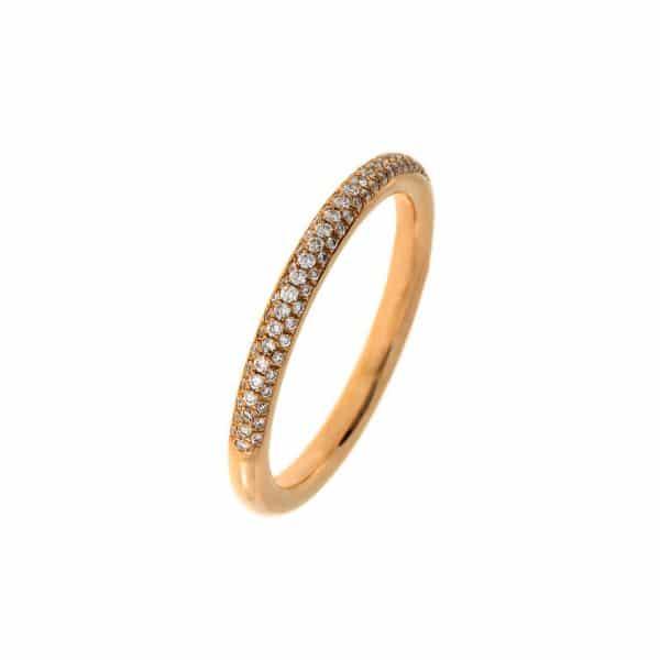 18 kt vörös arany pavé 82 gyémánttal 1A339R855-1