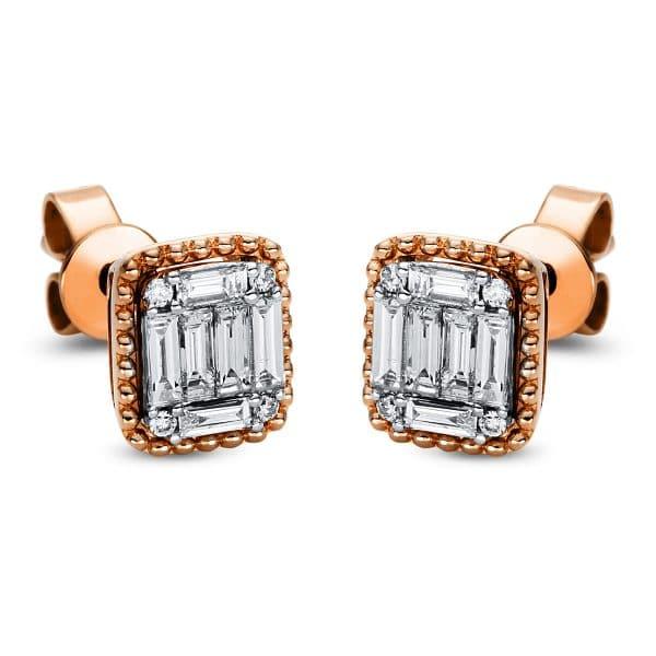 18 kt vörös arany steckeres 20 gyémánttal 2J014R8-2
