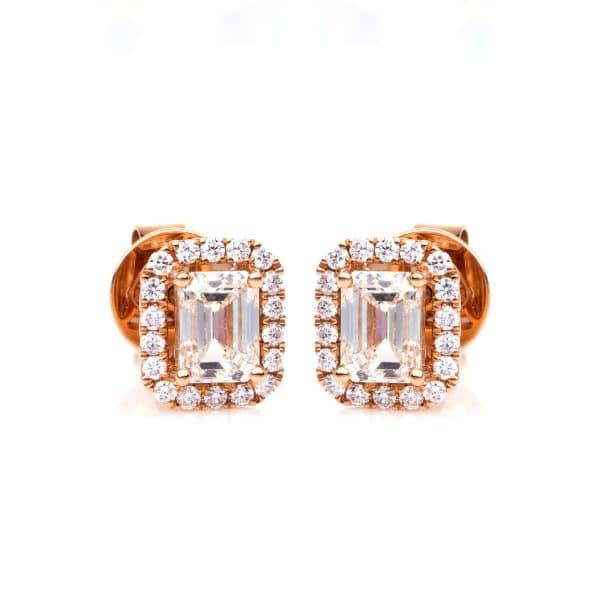 18 kt vörös arany steckeres 38 gyémánttal 2C791R8-1