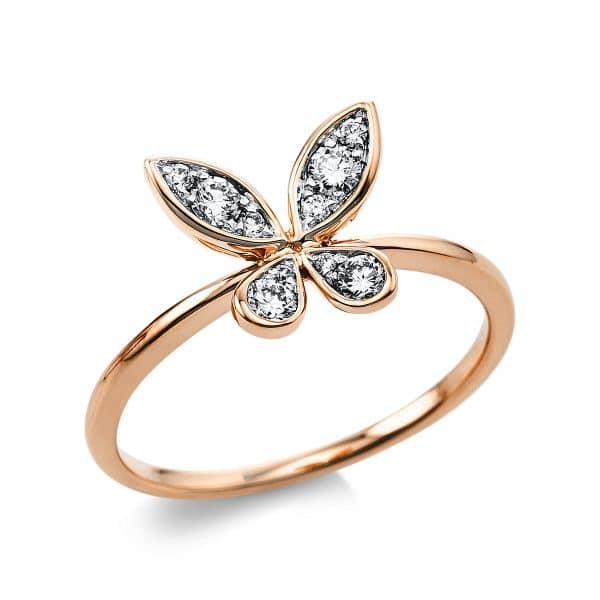18 kt vörös arany színes drágakő 10 gyémánttal 1V466R854-1