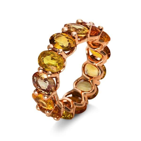 18 kt vörös arany színes drágakő 13 drágakővel 1N528R853-1