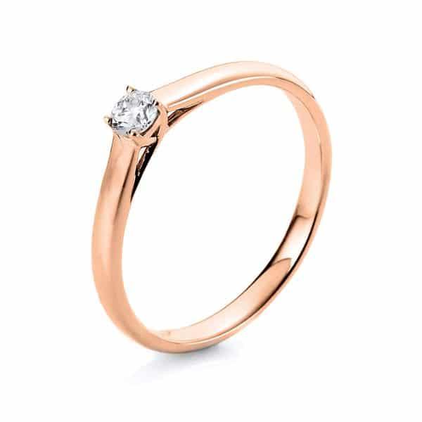 18 kt vörös arany szoliter 1 gyémánttal 1A442R855-1