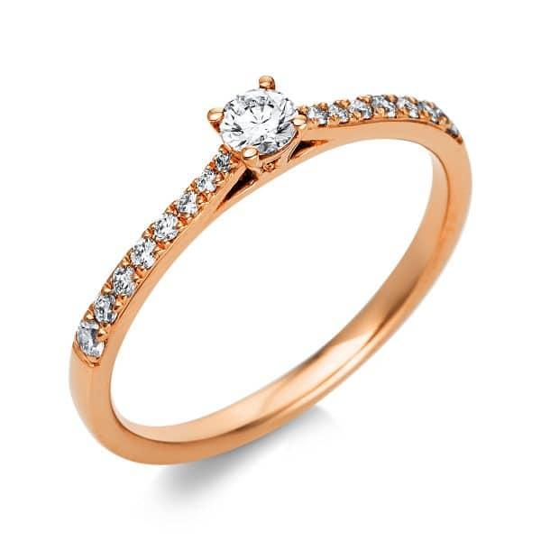 18 kt vörös arany szoliter oldalkövekkel 17 gyémánttal 1A423R854-1