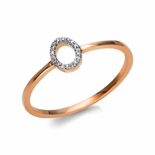 18 kt vörös arany több köves gyűrű 18 gyémánttal 1T777R853-1