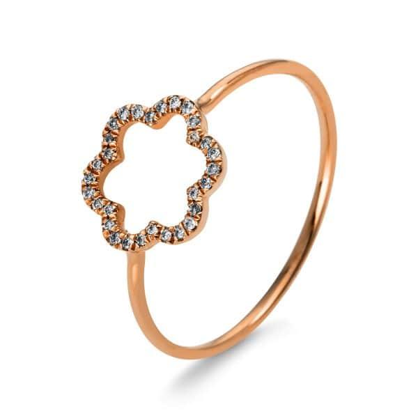 18 kt vörös arany több köves gyűrű 30 gyémánttal 1M990R856-1